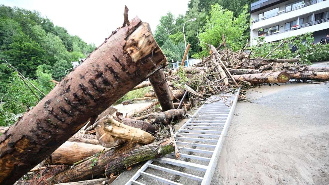 Hochwasser am 14./15. Juli in Werdohl.