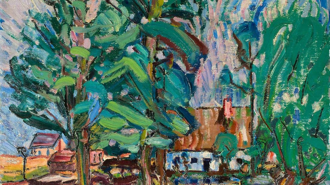 """""""Mühle in Deppendorf"""" (1912) nannte Peter August Böckstiegel sein Gemälde"""