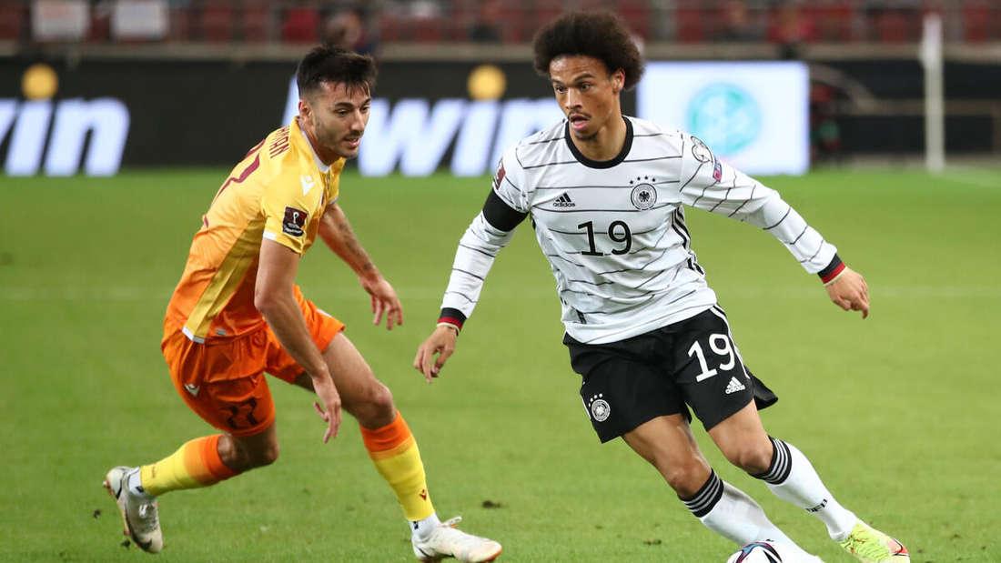 Gut im Spiel: Deutschland und Leroy Sané (re.) gegen Armenien.