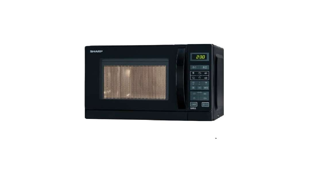 Sharp R642BKW 2-in-1 Mikrowelle mit Grill