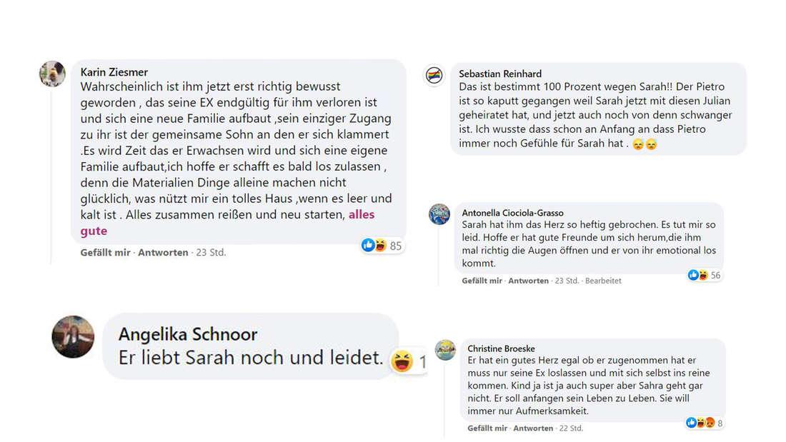 Screenshots Facebookkommentare