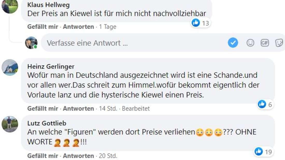 Facebook reagiert auf Andrea Kiewels Auszeichnung wütend