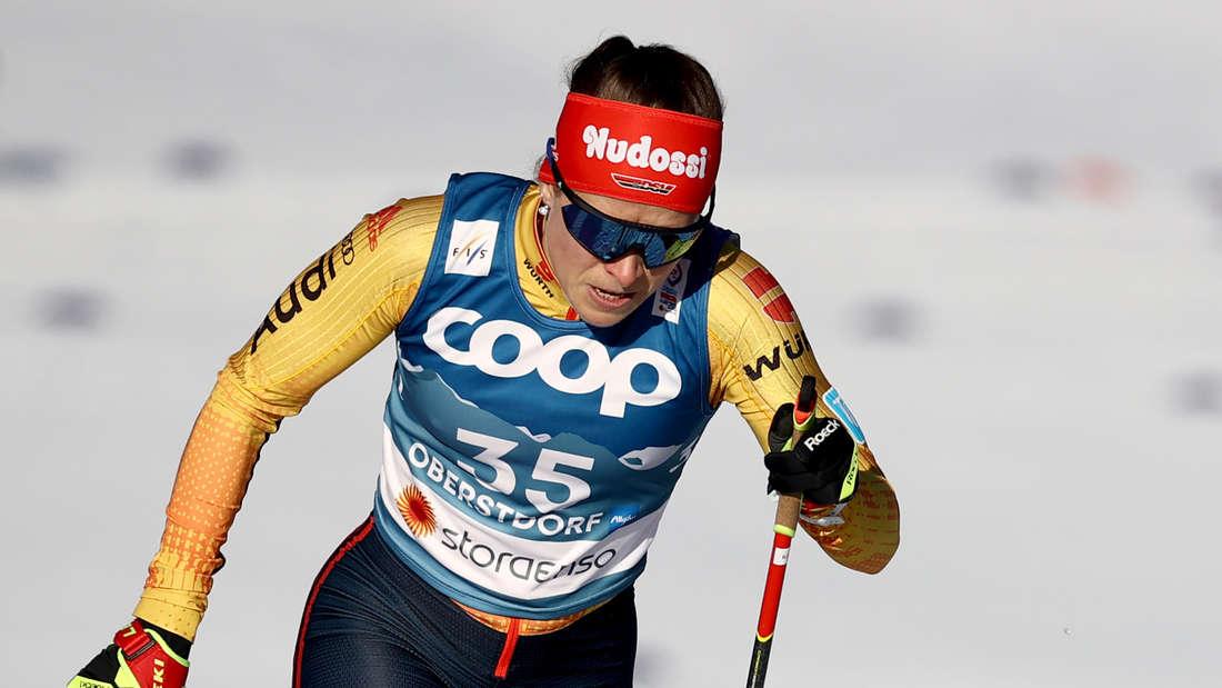 Katharina Hennig ist die große deutsche Medaillen-Hoffnung im Langlauf.