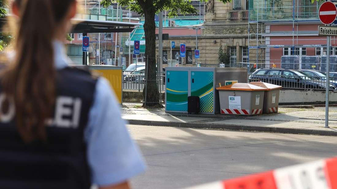 In Hagen wurde ein herrenloser Koffer am Hauptbahnhof gefunden. Die Polizei sperrte den Bereich ab.