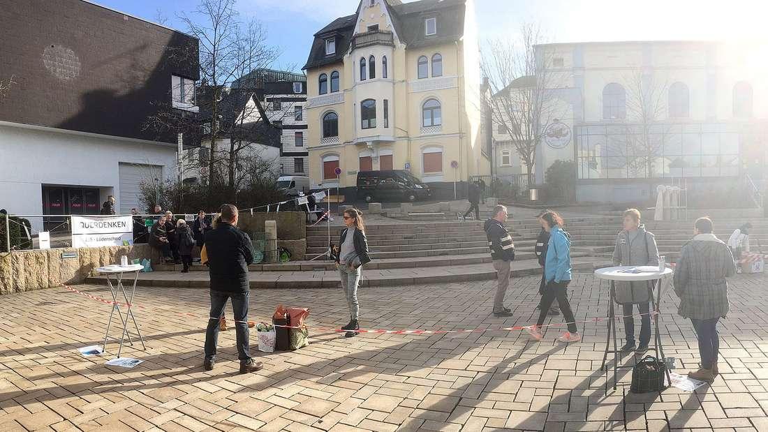 Querdenker-Demonstration im Februar in Lüdenscheid.